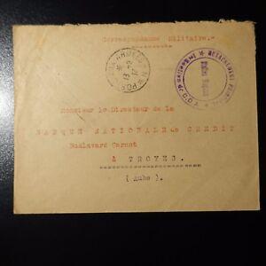 Juste Lettre Cover Cachet Detachement Principal C.o.a Cad Poste Aux ArmÉes N 1916