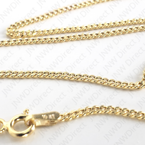 """10K Yellow Gold Cuban Link Curb Chain Necklace 16/"""" 18/"""" 20/"""" 22/"""" 24/"""" 26/"""" 30/"""" 1.5mm"""