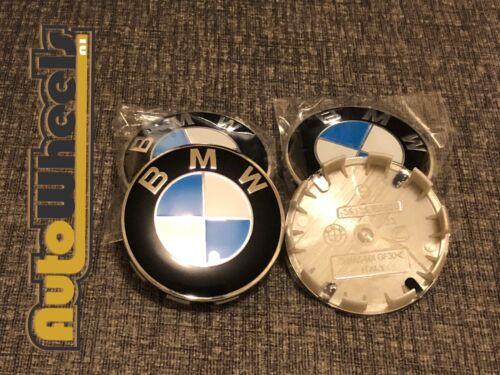 4 X NUOVA BMW CENTRALE CERCHI IN LEGA HUB CAPS 10 Pin Clip BADGE 68mm 36136783536