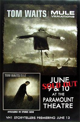 Tom Waits 1999 Mule Variatons Oakland Concert Poster