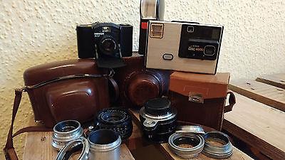 Konvolut Kameras,Objektive, Taschen, Zubehör