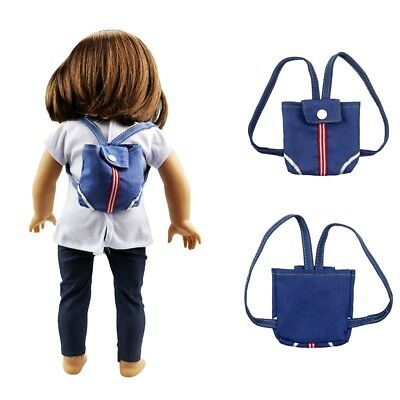Design Cowboy Leisure Bag For 18 inch Girl Doll Clothing Accessoriess P2V6
