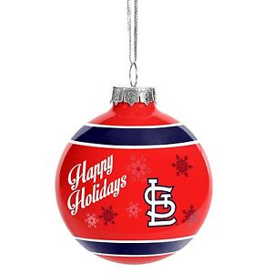 St Louis Cardinals Glass Ball Ornament Christmas Tree ...