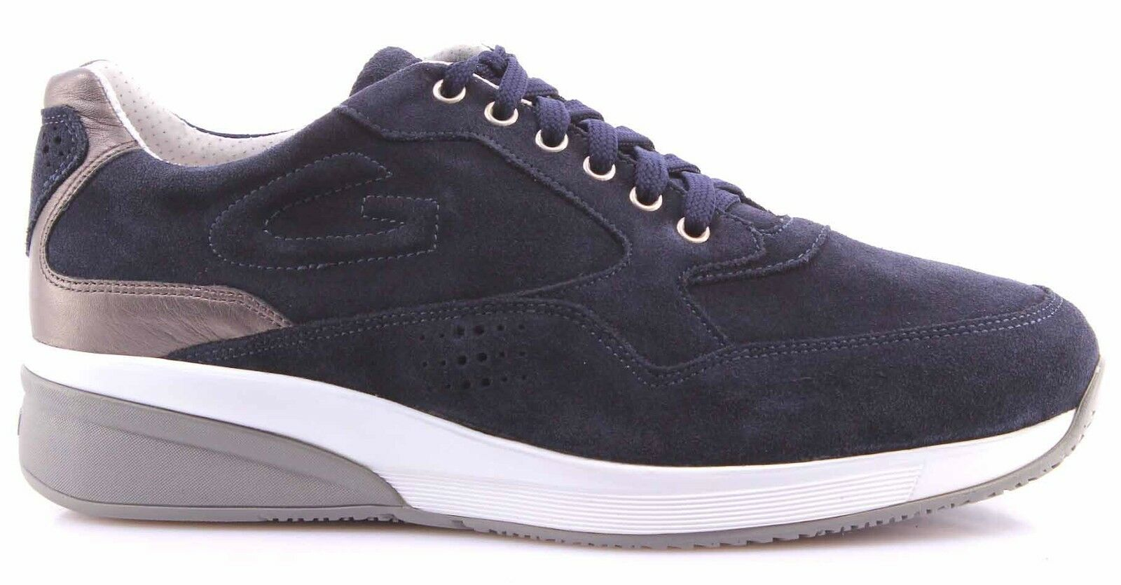 Men's Shoes Sneakers ALBERTO GUARDIANI Sport Man Shoes Grove Blue Made Italy New
