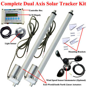Complete Dual Axis Solar Tracker -Solar Panel Tracking System