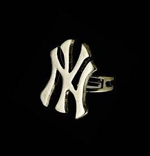 ANELLO RAP METALLO HIP HOP RING NY NEW YORK 793/5 sat