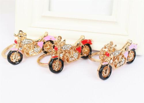 Motor Motorcycle Bicycle Charm Crystal Key Chain for Handbag Bag Purse Carkey