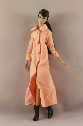 Fashion orange long wind coat Clothes//Outfit For 11.5in.Doll