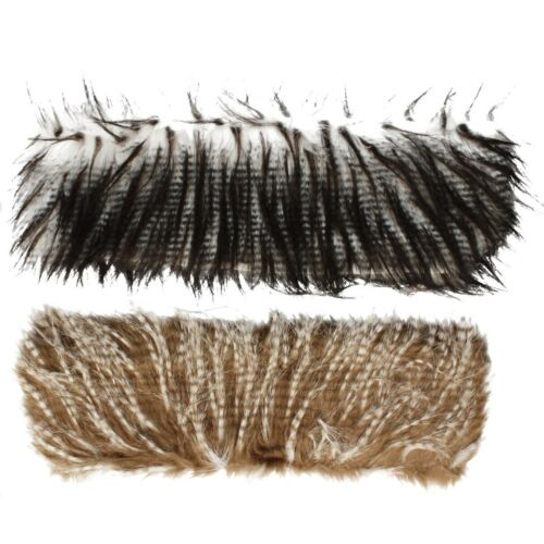 90264 Ladies Black and Grey or Brown and Cream Faux Fur Sarf