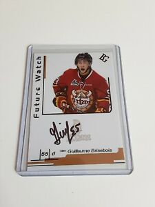 Guillaume-Brisebois-Custom-Card-Future-Watch-Auto-Signed-In-Person-Rookie-Rc