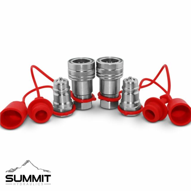 Summit Hydraulics AG1208N2SET Hydraulic Tractor Couplers Poppet Pioneer for sale online