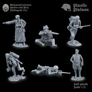 Plastique peloton jouet soldats plastique Platoon German snipers WW2 nouvelle version.