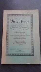 Victor Hugo Y J. Drouet A Fougeres 2è Edit. E Aubree 1942 Lib.perrin Buen Estado