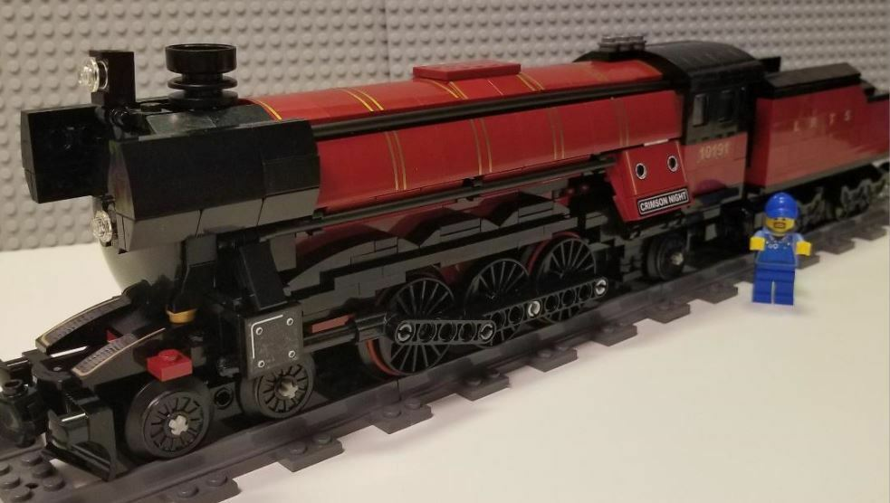 Lego Train Custom Crimson Night  10191 PLEASE READ ITEM DESCRIPTION 10194