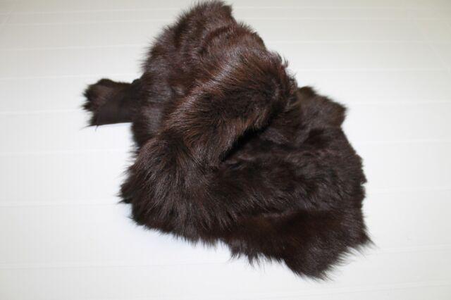 Italian sheepskin shearling skin  CHESTNUT BROWN LONG HAIR 2+sqf #6919