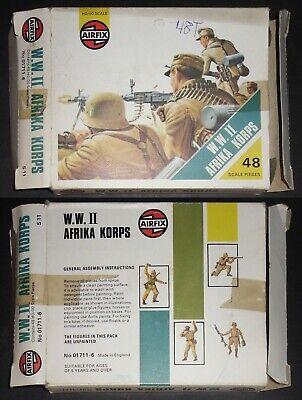 Airfix Wwii Afrika Korps + Stripe Box - Set 01711 Completo - 48 Pezzi Scala 1:72