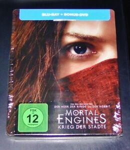 Mortal Moteurs Krieg Le Villes blu ray +DVD Limitée steelbook Neuf