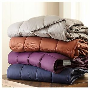 Eddie Bauer 700fill Power Down Throw Soft Polyester Nylon Fabric Assorted Colors