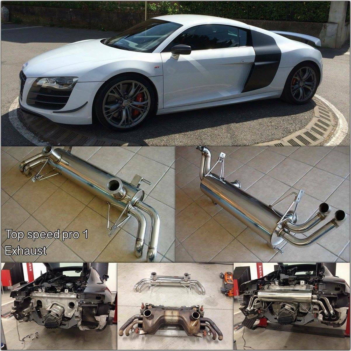 Turbo Kit Audi R8 V10: AUDI R8 5.2L V10 09-13 T304 Rear Section Performance
