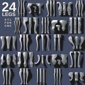 3d-stl-model-cnc-router-artcam-aspire-24-pcs-legs-collection