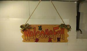 Wooden-Welcome-Fall-Sign-Door-Hanger-Autumn-Halloween-Decoration-h175