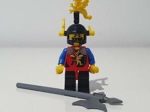LEGO DRAGON KNIGHTS BLACK RED LEGS BLACK DRAGON HELMET YELLOW PLUMES cas018 6043