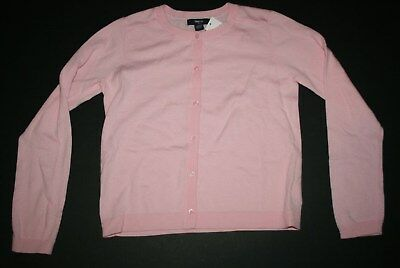 New Gap Outlet Light Pink Button Front Cardigan Sweater NWT 10 11 12 13 Yr Girl