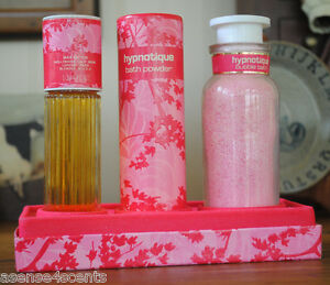 Vintage Max Factor Hypnotique Perfumed Boxed Set-Powder-Bath-Parfum