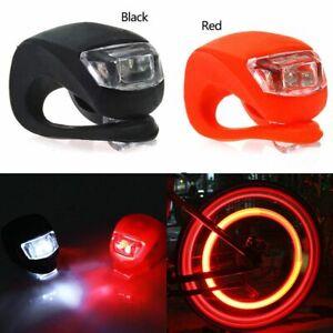 Fahrradlampe Fahrradlicht LED Silikon Vorne Hinten Fahrradlicht licht-ROT