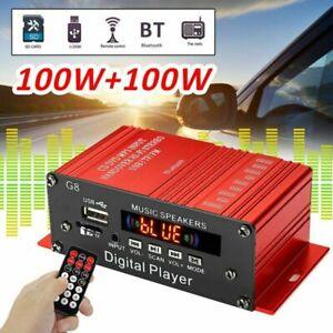 Mini Bluetooth 200W Leistungsverstärker HiFi Stereo Digital Power Amplifier