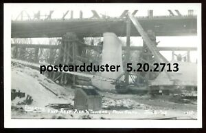 2713-EMERSON-Manitoba-1928-East-Rest-Pier-amp-Towers-Real-Photo-Postcard
