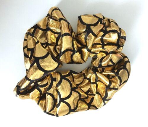 UK Seller Band NEW Beautiful Metallic Foil Mermaid Scale Scrunchie Hair Tie