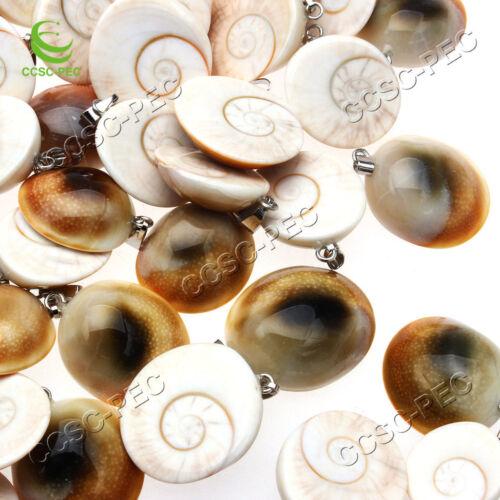 Fashion natural shell stone pendulum snail chamrs pendants 10pcs//lot wholesale