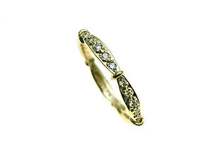 9ct-yellow-Gold-10-x-Diamond-set-ring-with-very-attractive-setting-and-shank