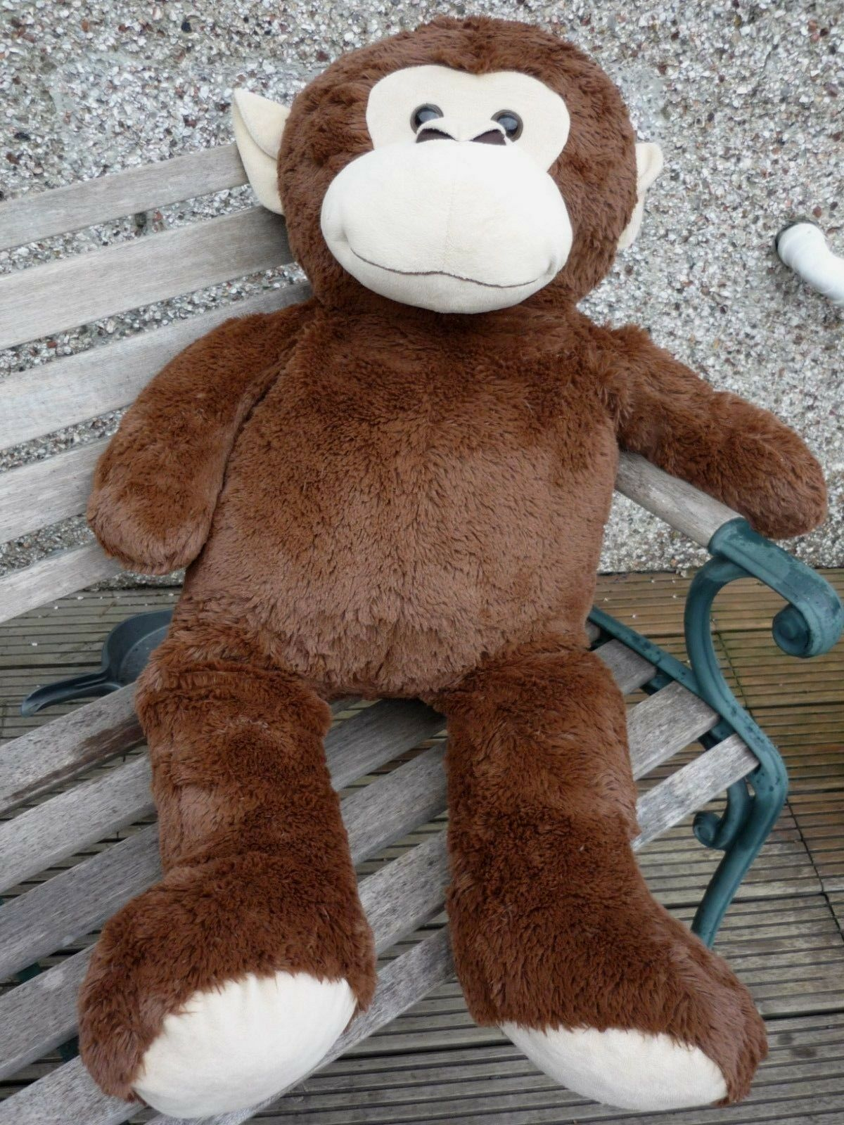 Enormous Brown Monkey Huge Giant Jumbo Large Hug Fun Soft Plush Toy 3ft 2  98cm
