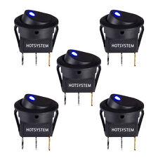 5PCS HOTSYSTEM LED Dot Light 12V Car Boat Round Rocker ON/OFF TOGGLE SPST Switch