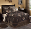 FARMHOUSE-STAR-QUILT-SET-choose-size-amp-accessories-Black-Khaki-Check-VHC-Brands thumbnail 1