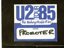 U2 The Unforgettable Fire Tour 85 backstage pass Promoter