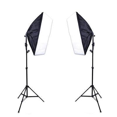 2*Softbox 50*70cm +2* Light Stand - Photo Video Studio Continuous Lighting Kit