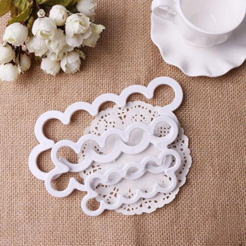 3Pcs Rosen Ausstecher Silikonform 3D-Blumen Muffins Keksen Fondant Torten Dekor