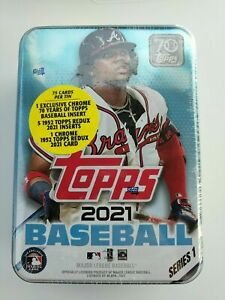 2021 Topps Series 1 MLB Baseball RANDOM Tin Trading Cards SEALED NEW