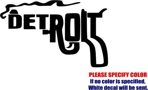 Detroit Gun Rifle Decal Sticker Funny Vinyl Car Window Bumper Truck Laptop 12/""