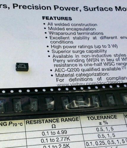 m1570 5 pcs wsc1 0,1 Ohm 1w smd-fil résistance wirewound resistor//2515