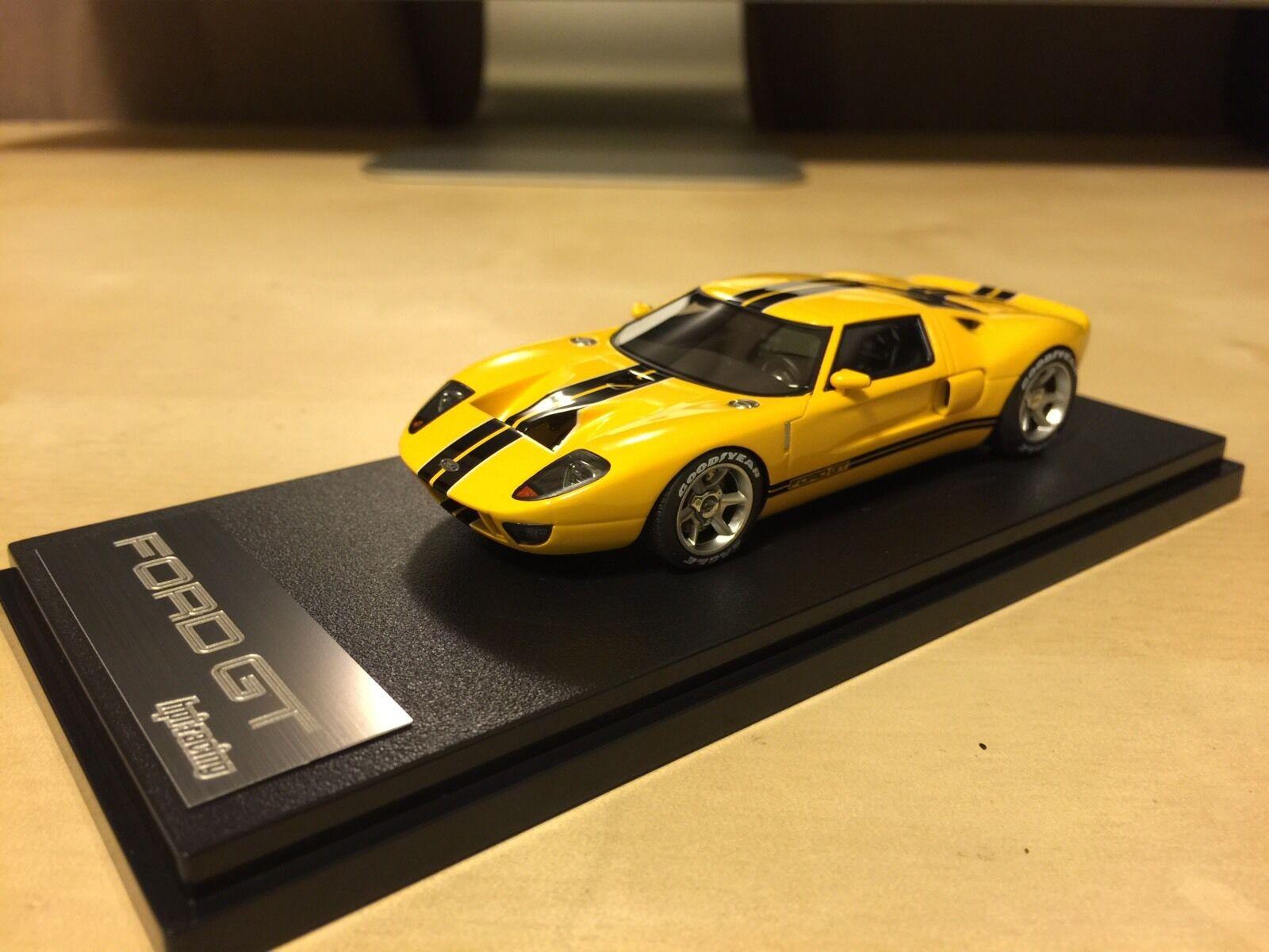 Dernier lot   HPI 8444 1 43 Ford GT fordgt GT40 Concept Résine Modèle Jaune Le Mans  loisir