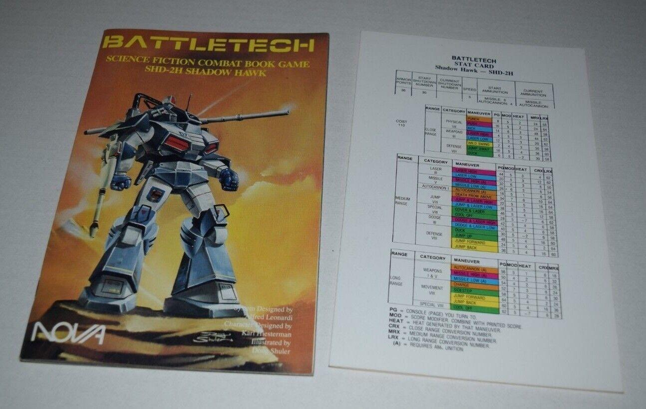 Nova battletech buch spiel shd-2h schatten hawk sc nm komplette w   stat.