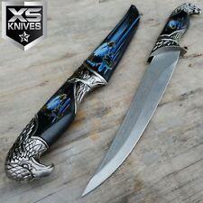 "13"" EAGLE HEAD Dagger Collectors Hunting Knife Decorative Sheath 440 STEEL Gift"
