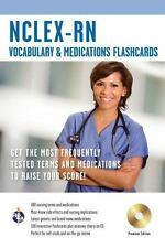 NCLEX-RN Vocabulary and Medications Flashcard Book w/ CD (Nursing Test Prep), Br