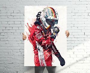 Sebastian-Vettel-Ferrari-Premium-POSTER-Print-FREE-USA-CAN-SHIPPING