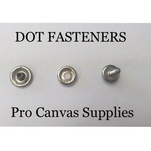 "Backing Plate /& Screw Stud 5//8/"" 10 sets Lift The Dot Fasteners Kit S.S Socket"