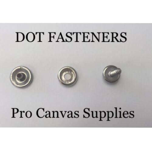 "Socket DOT S.S Snaps Cap /& #10 5//8/"" Screw Stud 30 sets"